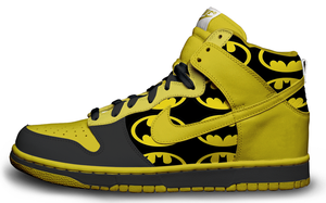 Batman Nike Dunks by roobarbcrumble