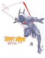 Batman Beyond Marker sketch by JoeyVazquez
