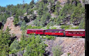 Durango Silverton Narrow Gauge Railroad Train Cars by DamselStock