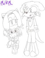 Mary, Tails Doll and Fang by xXRaeRodXx