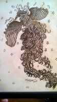 phoenix in tattoo art using graphite pencil by ravencolored