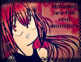 .:...:.Humans are the Real Monsters.:...:. by Rikabreeze