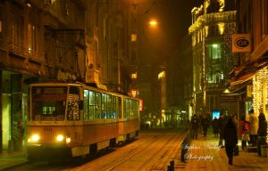 Night tram by Korni