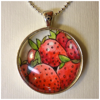 Strawberry Pendant by cellsdividing