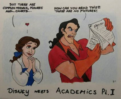 Disney meets Academics - No Pictures by MaryJet