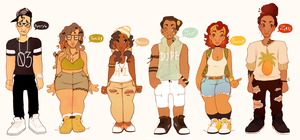 Creamed Coffee Main Cast! by Afro-Something