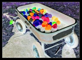 Psychedelic Easter Wagon by FriendlyButterfly