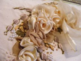 RIBBON EMBROIDERY: Wreath Detail 3 by BinnyD