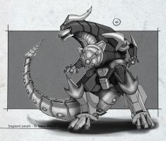 Dragonzord Final Design by BoredToLife