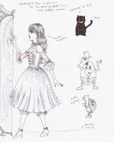 Alice Sketches by ElrithRydrine
