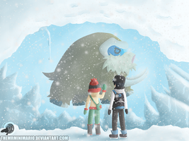 Pokemon Mamoswine stuck in ice