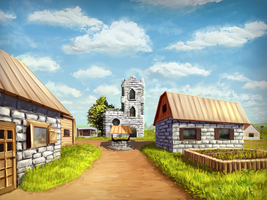 Minecraft Village by Algoinde