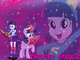 Wallpaper Twilight Sparkle Equestria Girls by NatouMJSonic