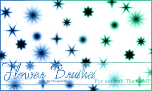 Flower Brushes 1 by Snowyowl88-Stock