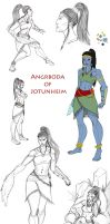 Angrboda sketchdump by SilverGryphon8