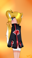 AT:Deidara as a Skunk~ by NikkitaTheAnimeFan