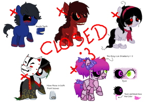 My Little Creepypasta Adoptables- Part 3 (CLOSED) by Psycho-CandyAddicted