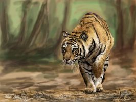 Tiger painting by vegas9879