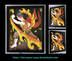 Avatar: The Last Airbender Zuko Shadowbox by The-Paper-Pony