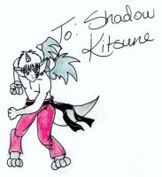 Christmas Gift- Shadow Kitsune by Rho-sama