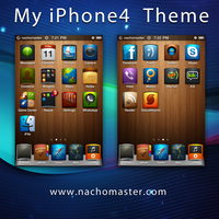 Woodtheme iPhone 4 by nachomaster