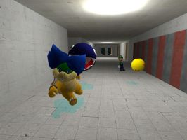 Ludwig 3D misadventures: Mad Chain chomp by Aso-Designer