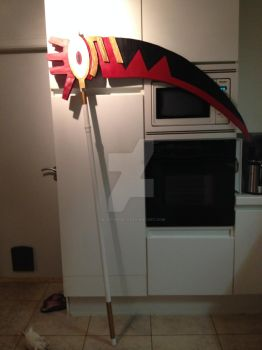 Soul Death scythe finished! by 0lostangel0