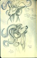 Octopus Deer Sketch by kagedking