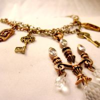 Wonderland Charm Necklace by SteamSociety