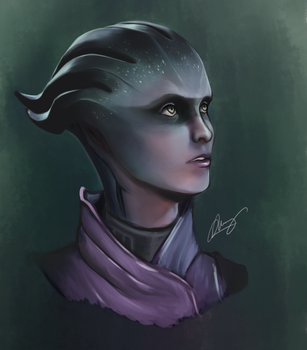 Peebee, Asari Renegade by wangxiuming