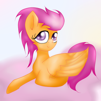 Scootaloo's Sunrise by Sasifrass
