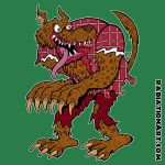 Big Bad Wolfman T-Shirt by RossRadiation