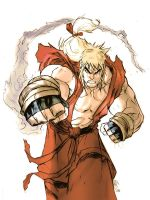 ken masters - street fighter by namorsubmariner