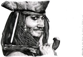:Johnny Depp as Jack Sparrow: by raila-chan