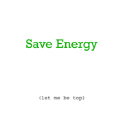 save energy by rainingcrow