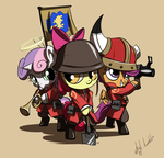 Pony TF2 - RED Soldier by atryl