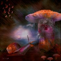 Psychedelic snail by Leina1