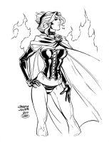 Black Queen 2 inks by madman1