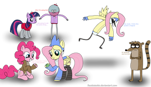 MLP and Regular Show by FacelessSoles