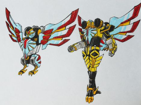 ONIRANGERS part 3: ONI OWL armament. by kishiaku