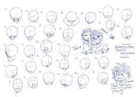 Reference-Sheet: Head-mouth placement 02_09_2014 by RemiLatour
