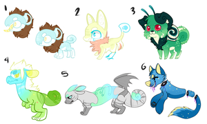 Spring Closed species auction! by Lodidah