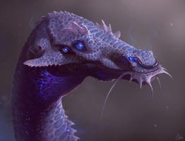 Bluegullet Whiskersnapper by LhuneArt