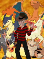 Serial Pokemon Trainers: Freddy the fire trainer by PsycoBunnyRachel