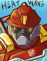 Rescue Bots: Heatwave coloured by Succubii