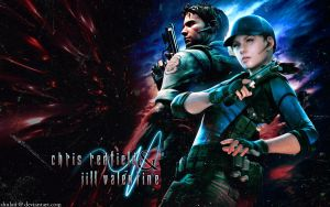 Chris and Jill AE Wallpaper by shulaii