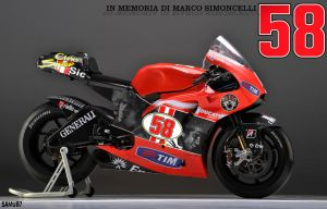 Simoncelli tribute on Ducati by SAMUXX