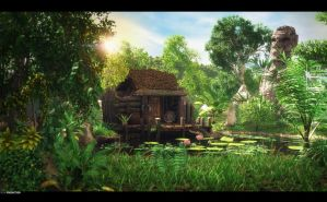 jungle cottage by dart12001