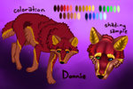 Donnie Reference Sheet by wolfzero00time