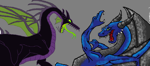 Tyler the Dragon VS. Maleficent by TylerthDragon
